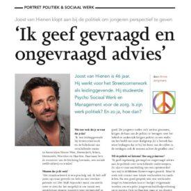 Joost van Hienen klopt aan bij de politiek om jongeren perspectief te geven